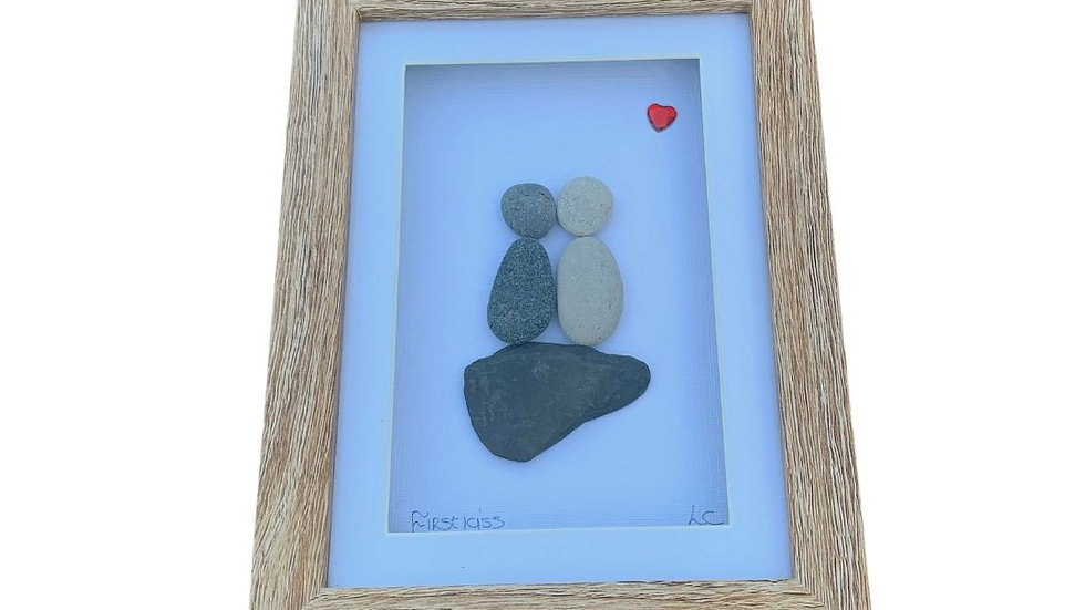 FIRST KISS PEBBLE ART