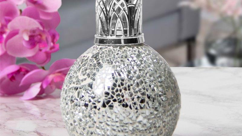 Mosaic Fragrance Lamp, Silver