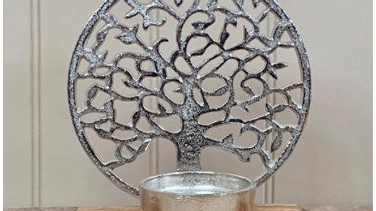 Aluminium Tree of Life Candle Holder