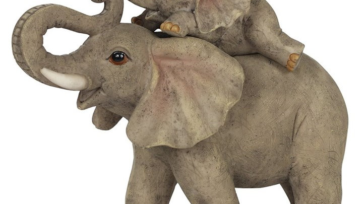 ELEPHANT ADVENTURE MOTHER AND BABY ELEPHANT ORNAMENT