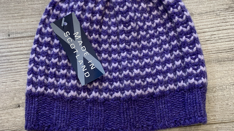 Womens 100% Wool & Angora HAT- MADE IN SCOTLAND