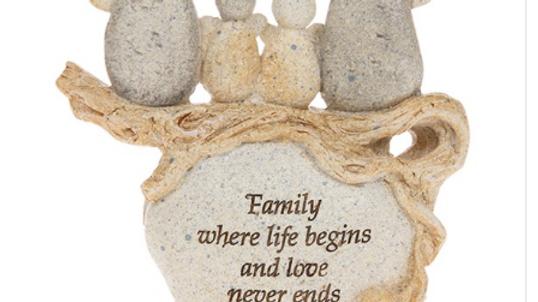 Pebble Art Angel Family 4