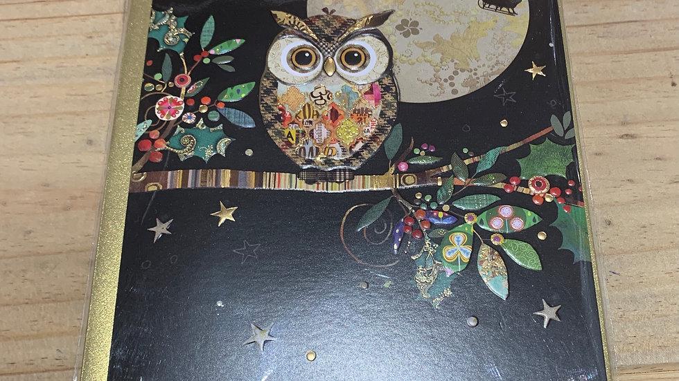 CHRISTMAS OWL PACK OF 5 CHRISTMAS CARDS