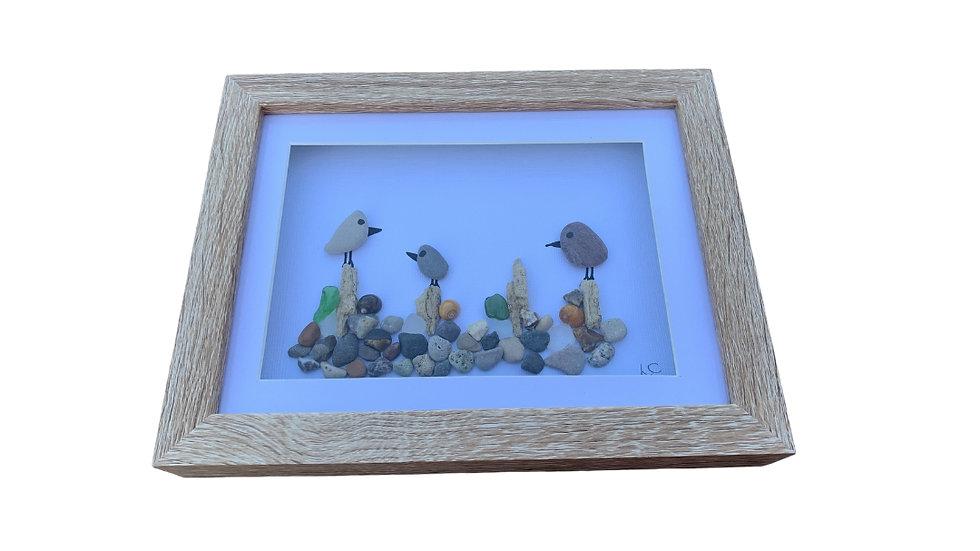 BIRDS PEBBLE ART