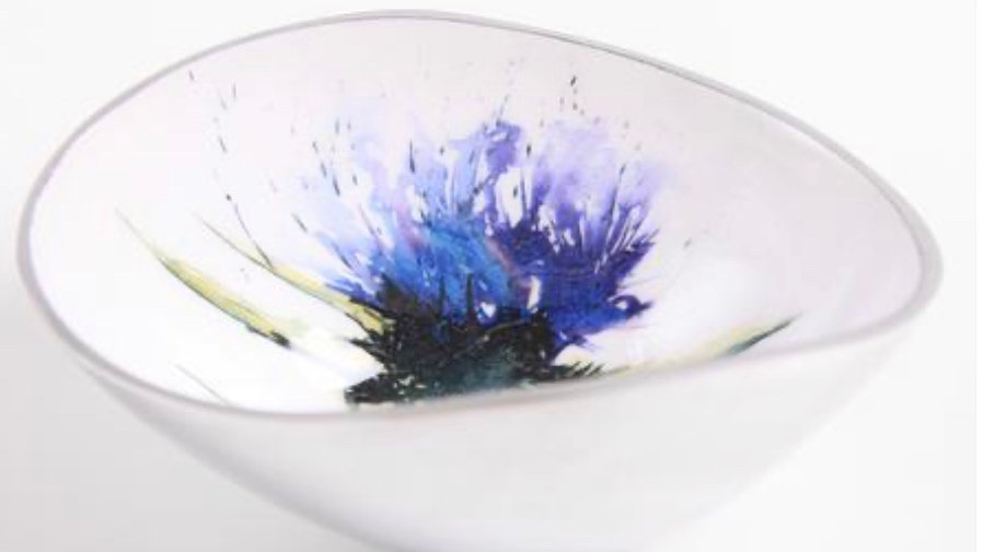 THISTLE OVAL SMALL BOWL FAIRTRADE RECYCLED ALUMINIUM