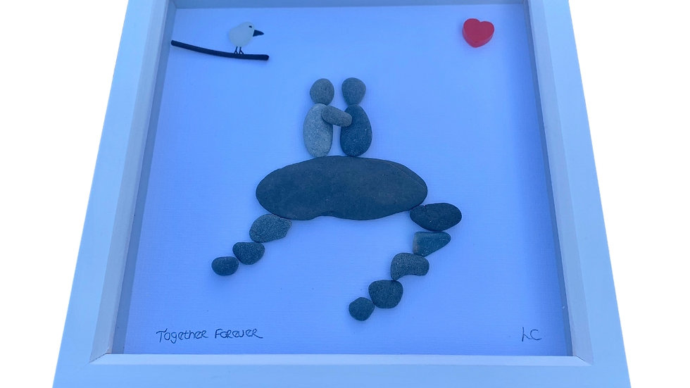 TOGETHER FOREVER PEBBLE ART