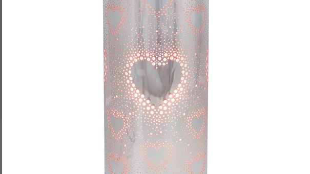 SILVER HEART AROMA TOUCH LAMP