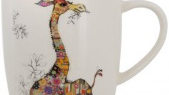 GERRY GIRAFFE BUG ART CHINA MUG