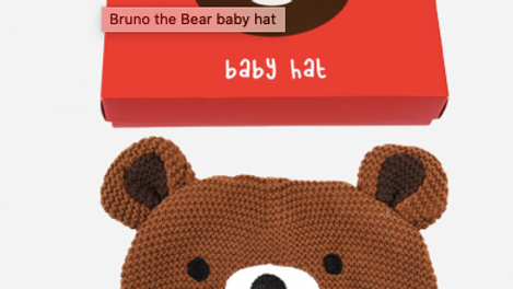 BRUNO THE BEAR BABY HAT