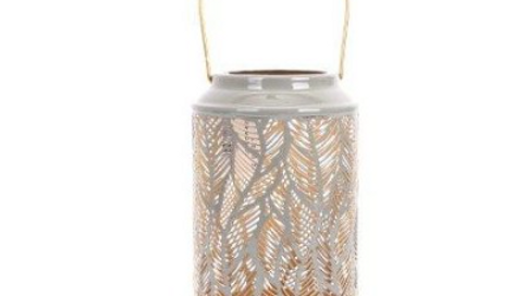 GOLDEN FEATHER CUT OUT LANTERN