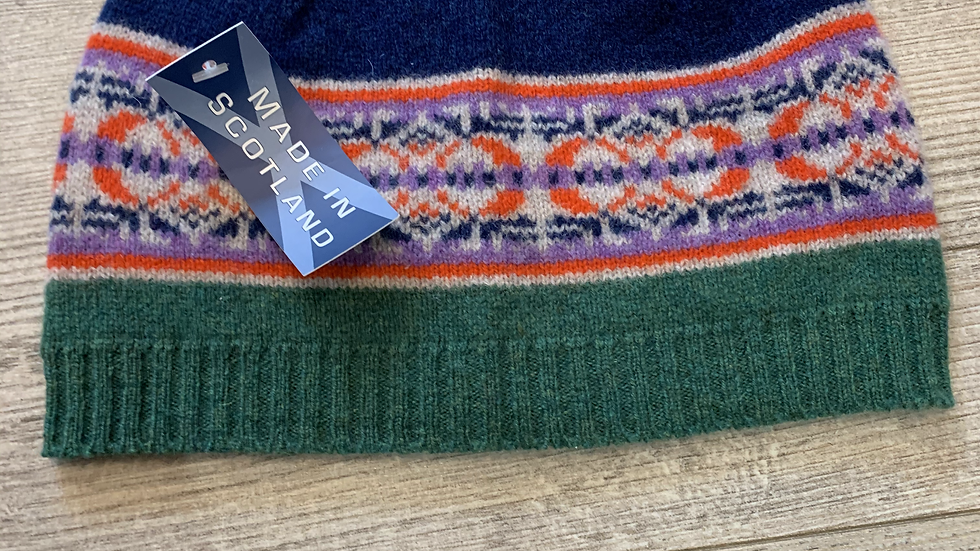 Unisex 100% Wool HAT- MADE IN SCOTLAND -