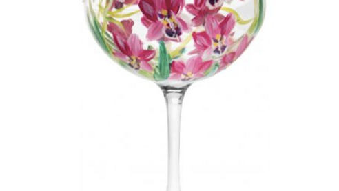 GIN GLASS - PINK ORCHID GLASS