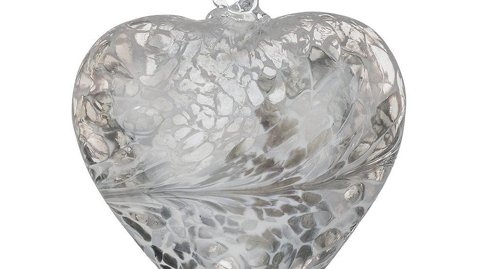 8CM FRIENDSHIP HEART - PASTEL SILVER