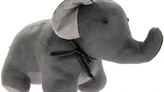 Velveteen Elephant Doorstop