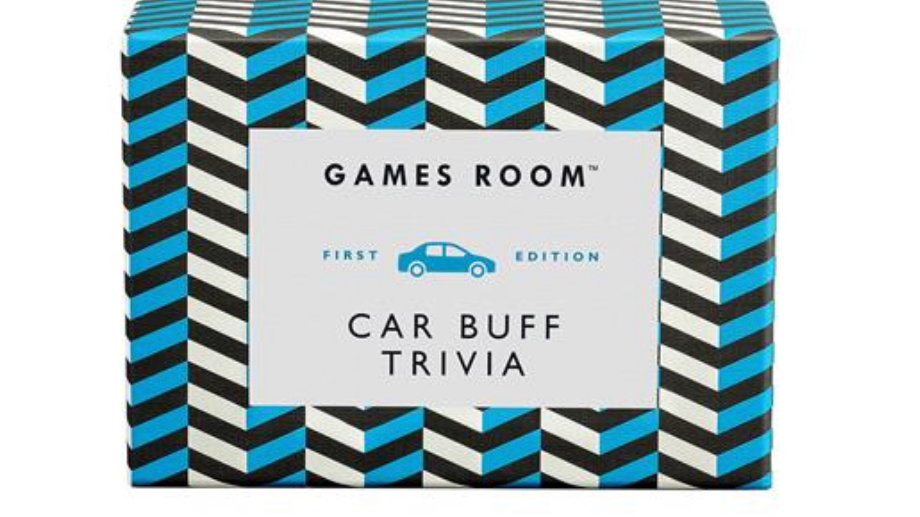 RIDLEYS GAMES CAR BUFF TRIVIA
