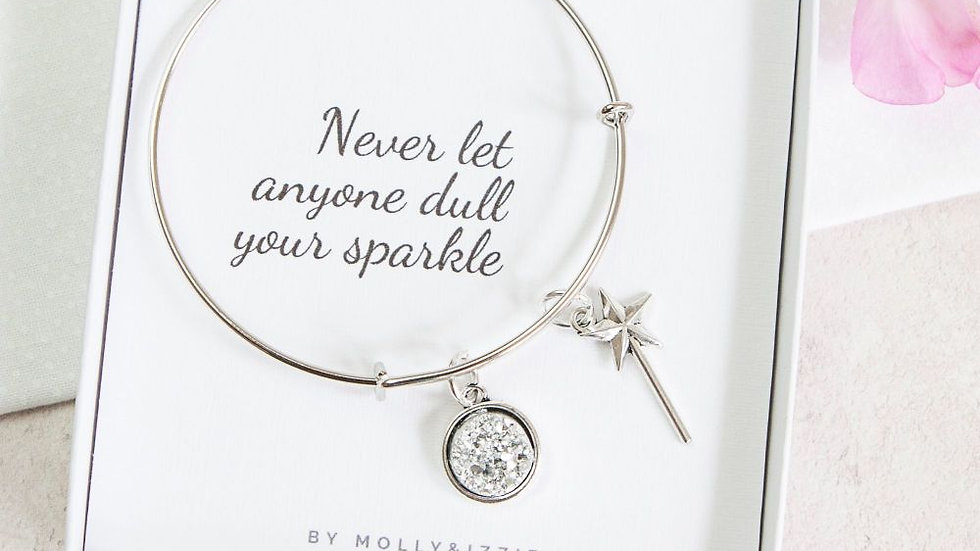 NEVER LET ANYONE DULL YOUR SPARKLE BANGLE