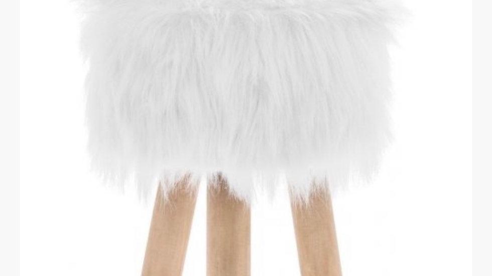 WHITE FLUFFY STOOLS
