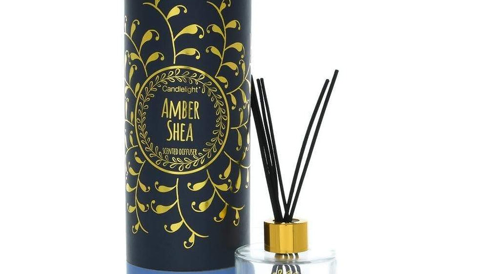 Bohemian Reed Diffuser in Gift Box Amber Shea Scent