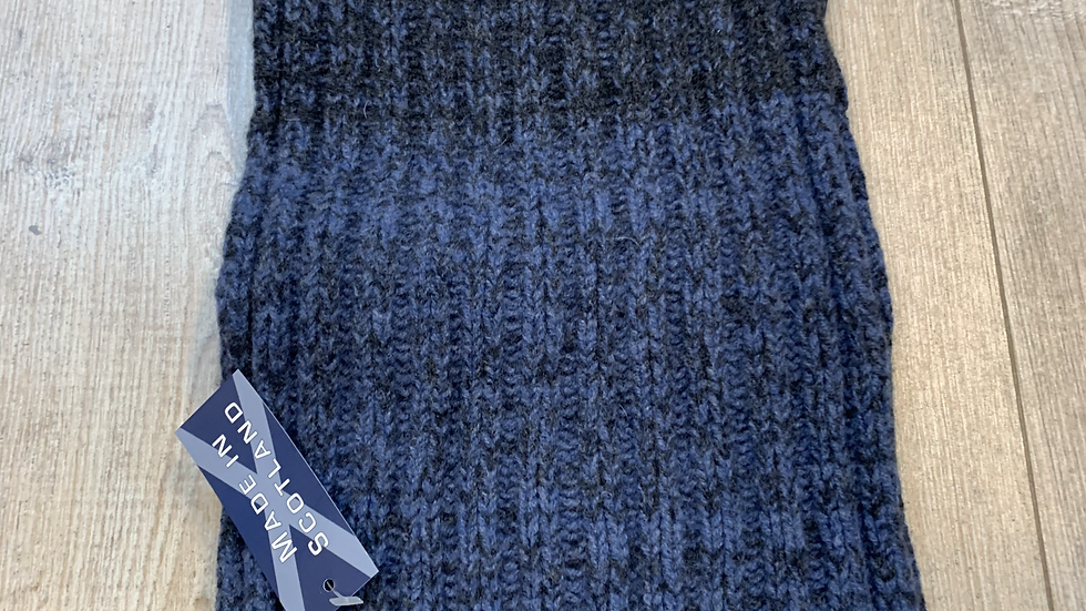 Mens 100% Wool Scarf - MADE IN SCOTLAND - Blue