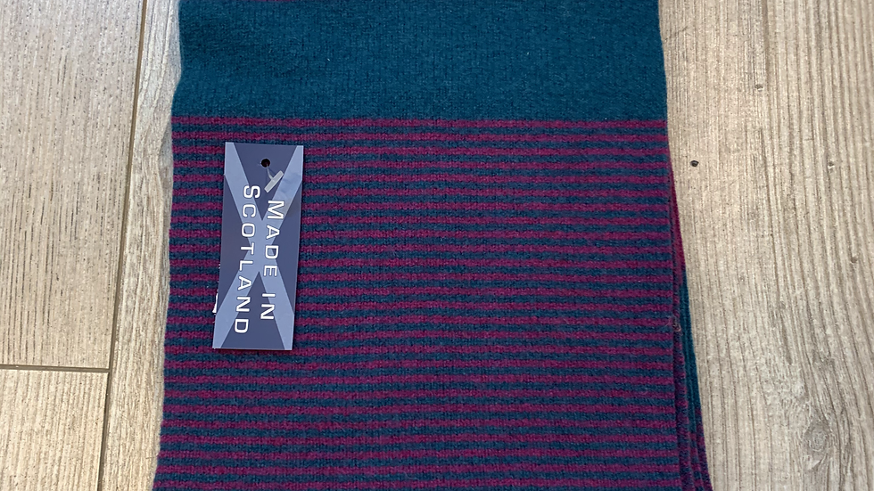 Womens 100% Wool Scarf - MADE IN SCOTLAND