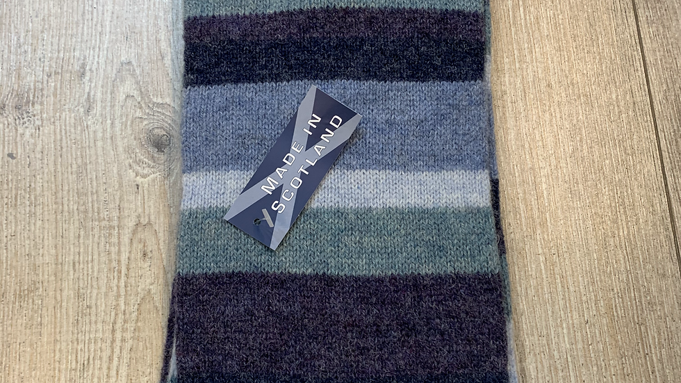 Mens 100% Wool Scarf - MADE IN SCOTLAND