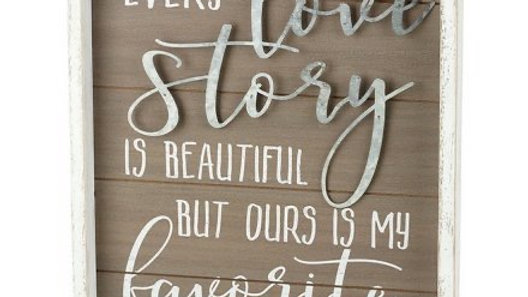 LOVE STORY WOODEN FRAME