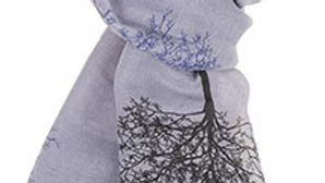 Two Tone Tree of Life Printed Scarf