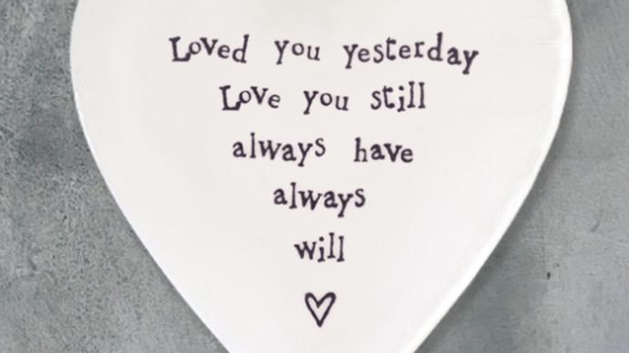 PORCELAIN COASTER - LOVE YOU