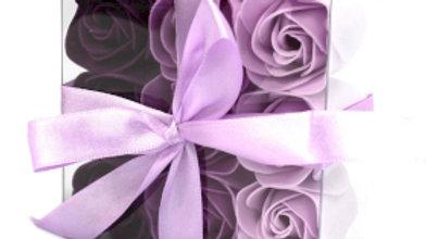 3x Set of 9 Soap Flower - Lavender Roses