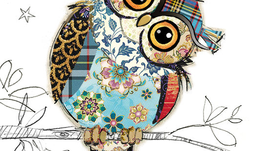 OWEN OWL GREETINGS CARD