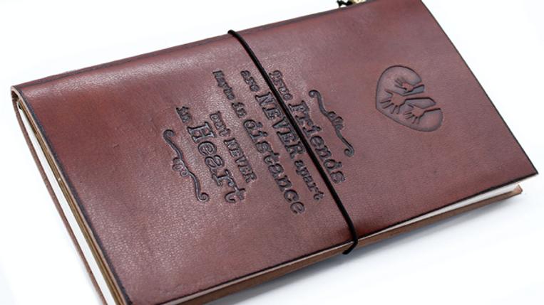 Handmade Leather Journal - True Friends