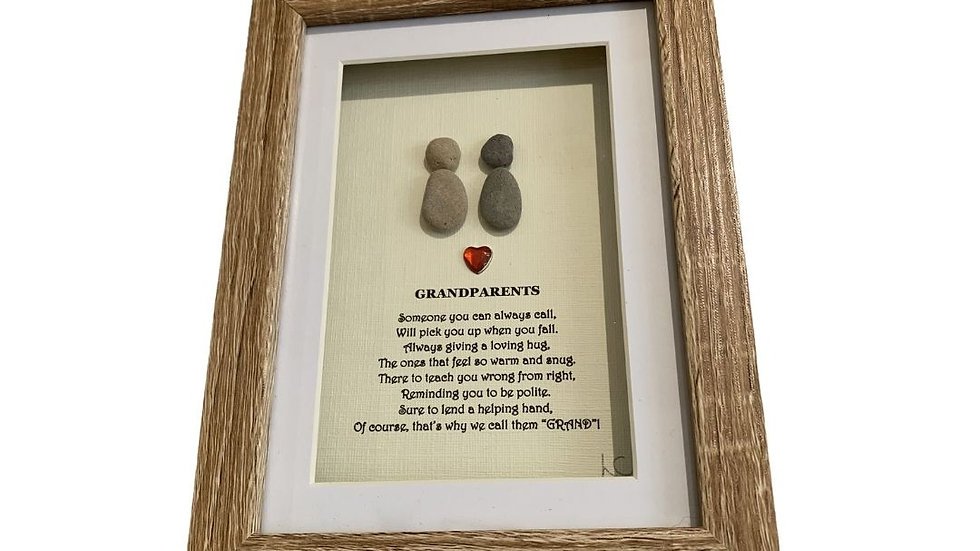 GRANDPARENTS PEBBLE ART