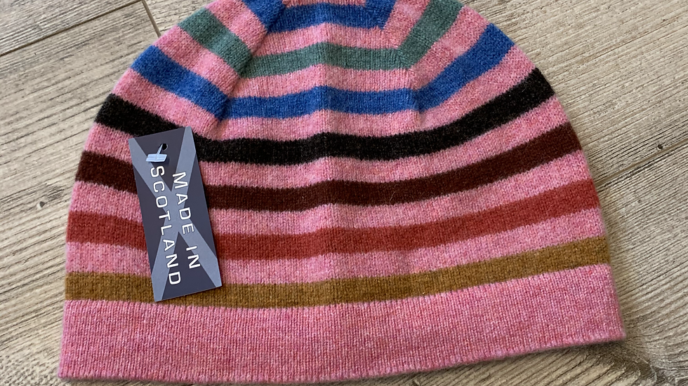 Womens 100% Wool HAT- MADE IN SCOTLAND -