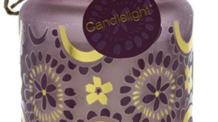 Candlelight Bohemian Large Glass Candle Angel Flower Scent