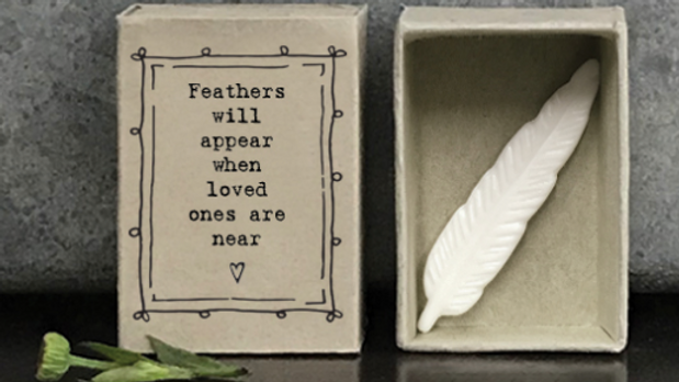 FEATHERS WILL APPEAR MATCHBOX EAST OF INDIA