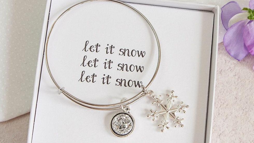 LET IT SNOW BANGLE