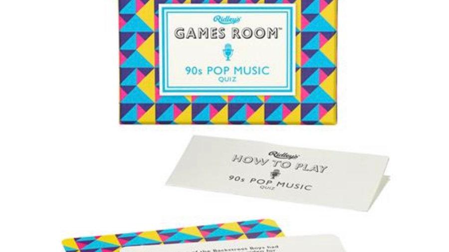 RIDLEYS GAMES 90S POP MUSIC TRIVIA