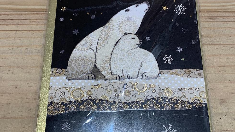 POLAR BEARS PACK OF 5 CHRISTMAS CARDS