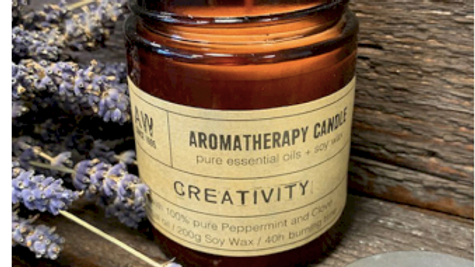 AROMATHERAPY SOY WAX CANDLE CREATIVITY