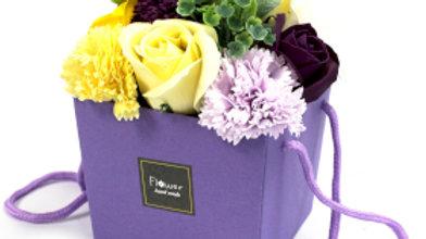 Soap Flower Bouquet - Purple Flower Garden