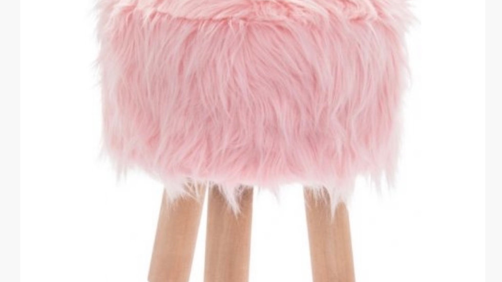 PINK FLUFFY STOOLS