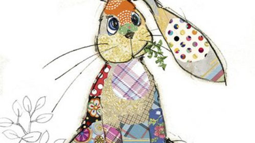 BINKY BUNNY GREETINGS CARD