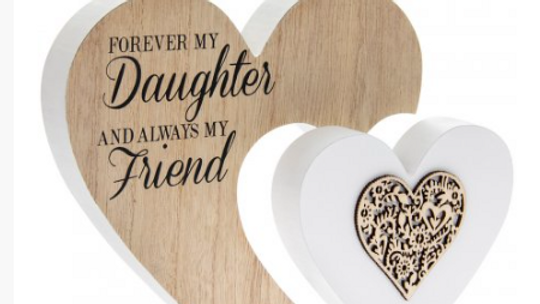Forever My Daughter' Natural Toned Heart Block