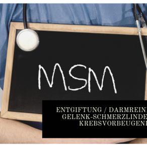 Organischer Schwefel (MSM) - Entgiftung / Darmreinigung / Gelenk-Schmerzlindernd / Krebsvorbeugend