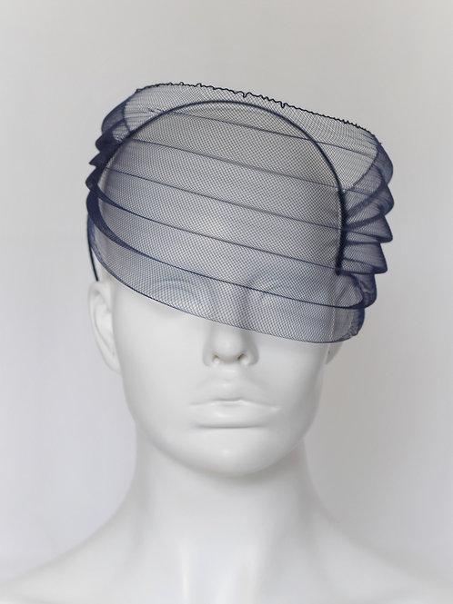 Side Swipe Veil -Navy