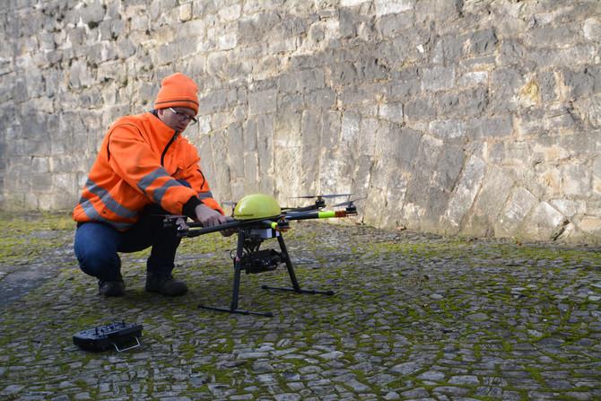 HighTech-Vermessung via Drohne