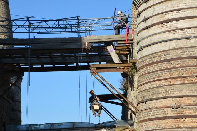 Abbau Beschickungsbrücke
