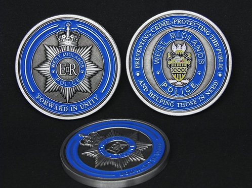 West Midlands Police challenge coin - silver