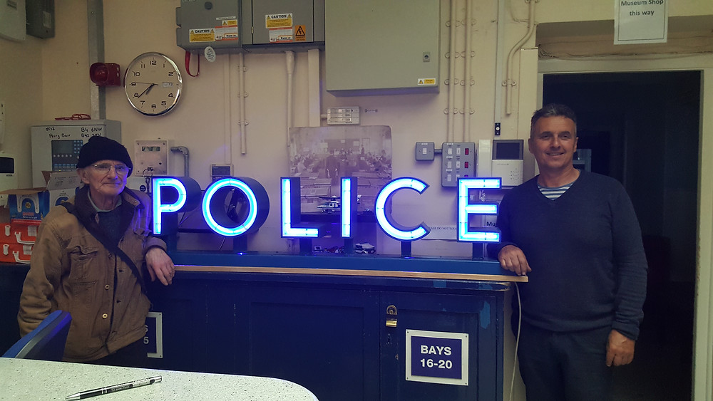 George (left) and Steve Styles who repaired the sign