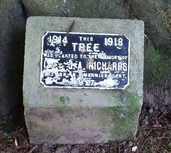Joseph Richards tree plaque